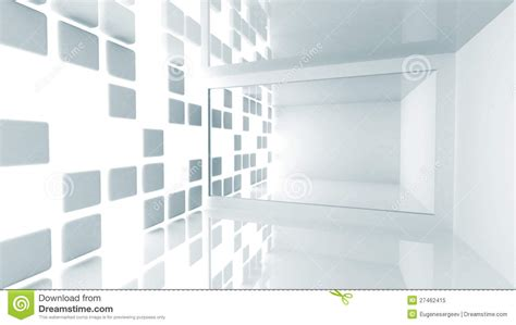 abstract architecture empty white modern interior stock
