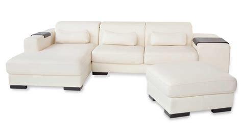 Ottoman Dublin White Dublin Sectional Sofa With Ottoman Zuri Furniture