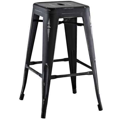 Black Metal Counter Height Bar Stools by Promenade Vintage Steel Counter Height Stool W Distressed