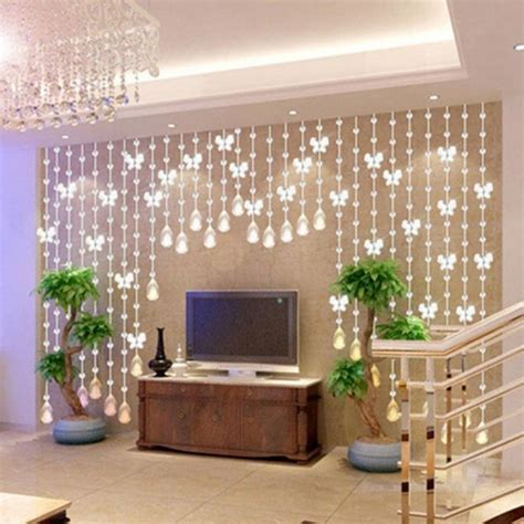 1M Modern Crystal Glass Waterdrop Curtain Window Curtains