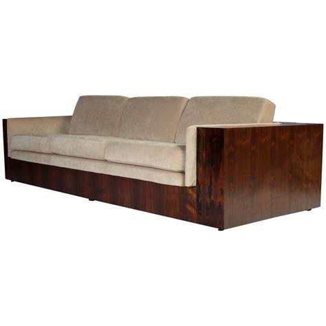 milo baughman rosewood case sofa milo baughman rosewood case sofa for thayer coggin for