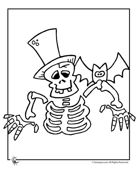 coloring pages halloween skeleton skeleton coloring pages kids coloring home