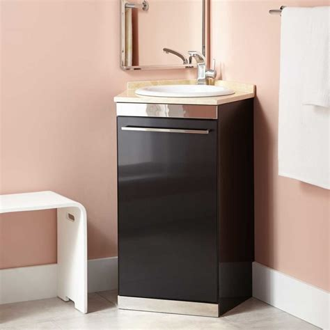 Bathroom Corner Vanities by 21 Quot Andres Stainless Steel Corner Vanity Black Modern Bathroom Vanities And Sink Consoles