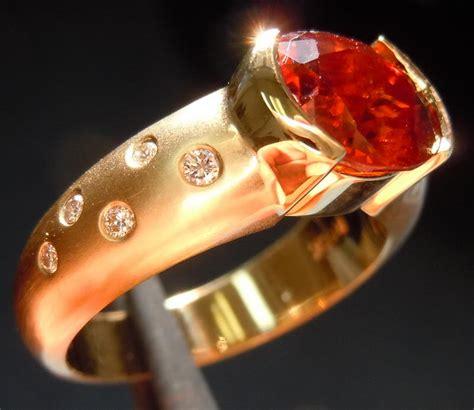 Garnet 2 84ct 2 84ct oval spessartite garnet ring