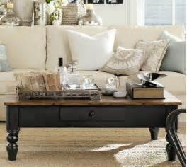 pottery barn coffee table hooked on houses