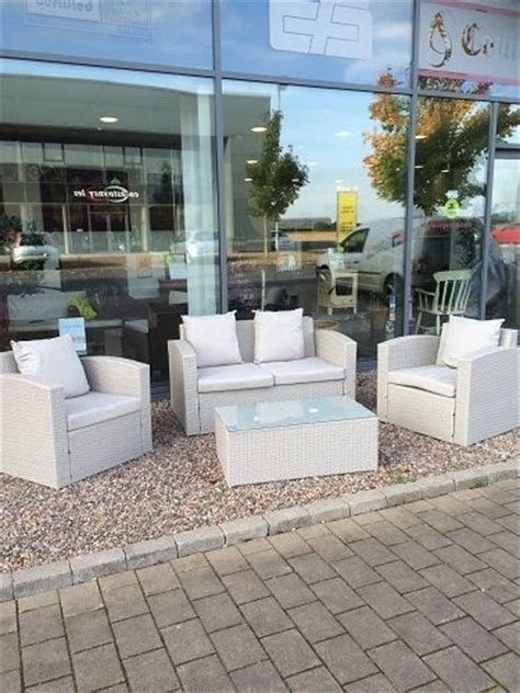 Outdoor Furniture Sale Ireland Grey Rattan Deluxe Garden Furniture Set