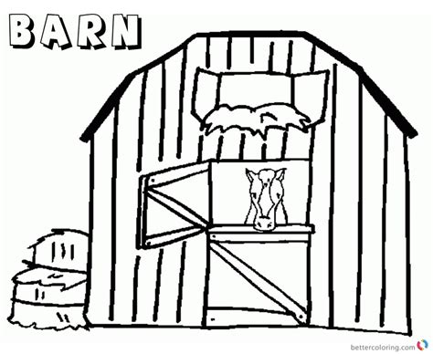 horse barn coloring page cool barn coloring page pictures inspiration