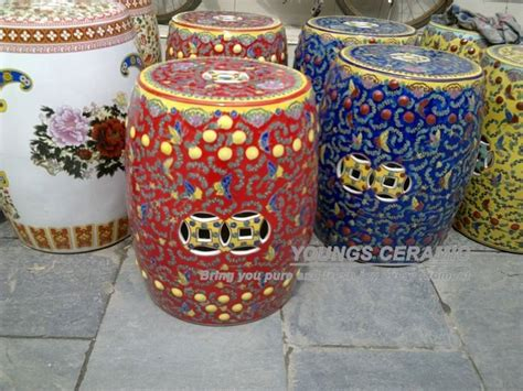 ottomans colorful round ottomans ottomans for sale round colorful famille rose ceramic round seat stool in stools