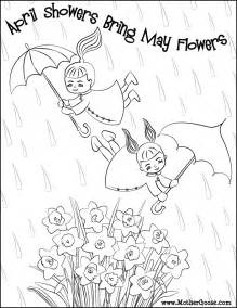 april showers coloring pages april showers coloring page