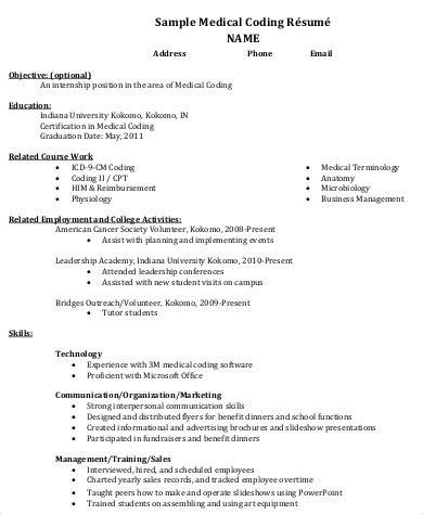 medical resume format 8 resume format sles sle templates