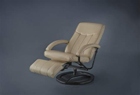 European Style Recliners by Style Driftwood Leather Swivel Recliner With