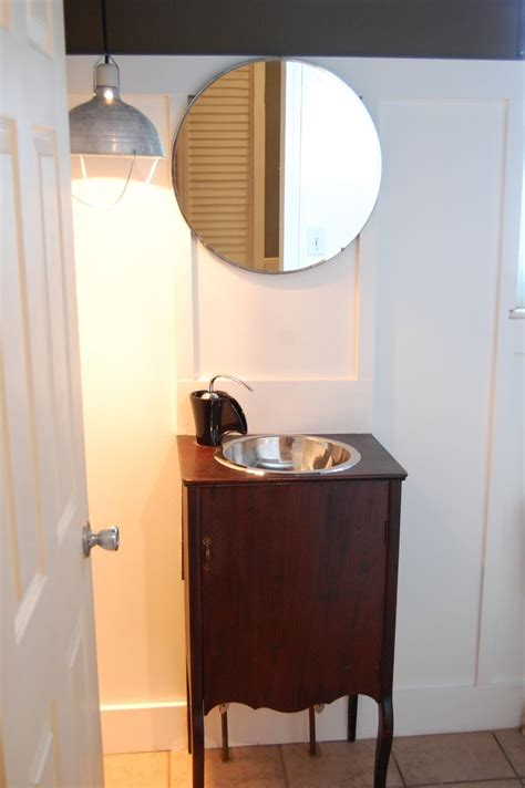 repurposed bathroom cabinet bathroom vanity from repurposed vintage record cabinet by