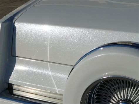Cadillac Pearl White Paint by White Pearl White Flake