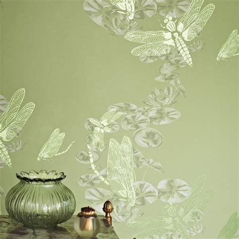 wallpaper green uk dragonfly apple green wallpaper barneby gates wallpaper