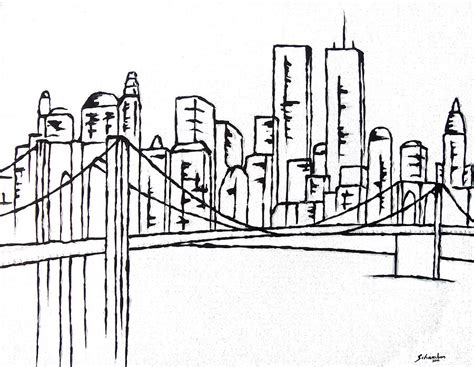 brooklyn bridge painting by amanda schambon