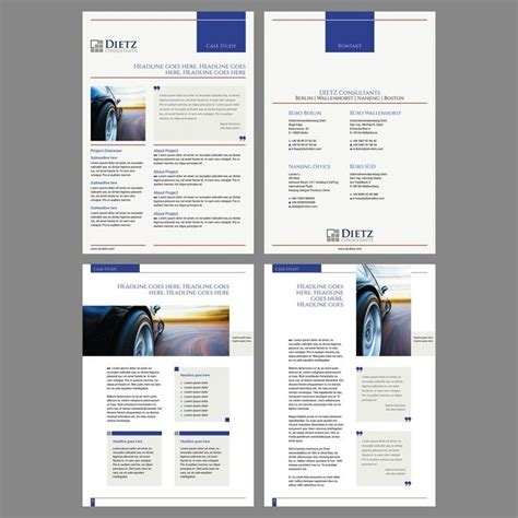 Design A Case Study Template For A Consulting Business By Copilul Work Pinterest Template Graphic Design Study Template