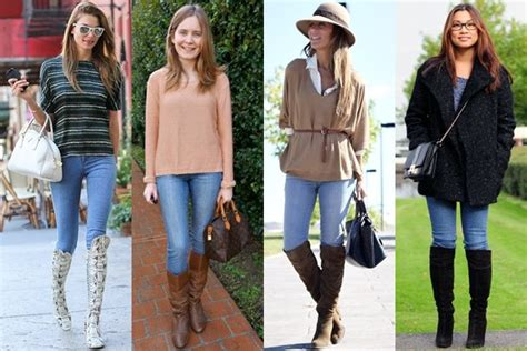 Sweater Wanita Atasan Le Peti Sweater White Le Peti Sw what to wear with knee high boots this fall 2013