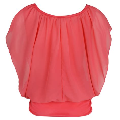 Plain Sleeve Chiffon Top womens chiffon top summer plain sleeve