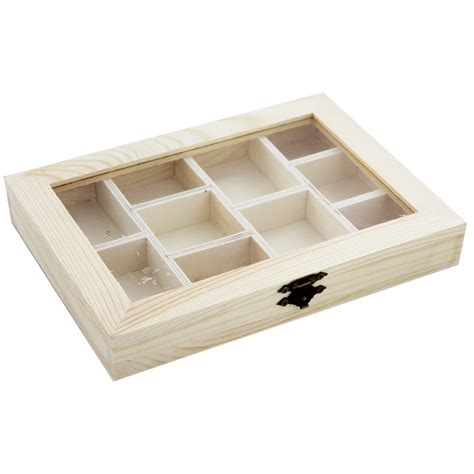 craft box wooden compartment box craft storage at the works