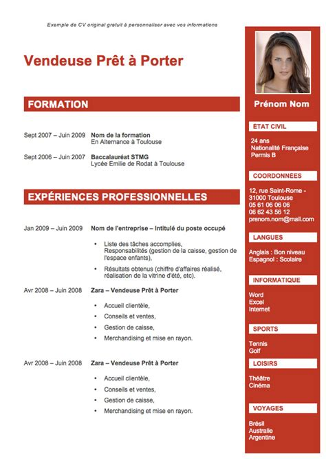 Template Cv Open Office Gratuit Exemple Cv Open Office Gratuit Cv Anonyme