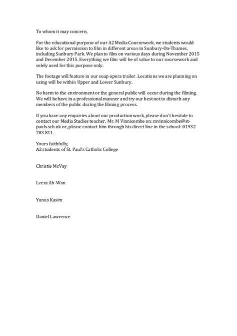 Authorization Letter Council permission letter sunbury council