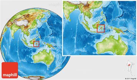 physical location map  kab tana toraja