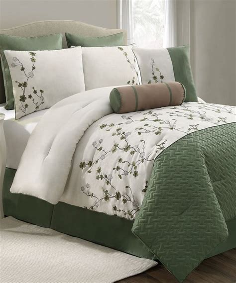 womens comforter sets vcny home green sadie comforter set zulily