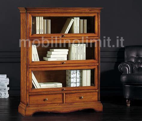 mobili libreria libreria con cassetti e ante in vetro grezza