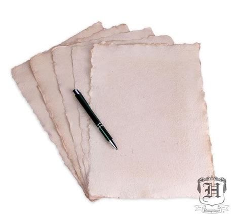 How To Make Paper Out Of Hemp - handmade hemp paper antique 5 sheet pack a4 250gsm