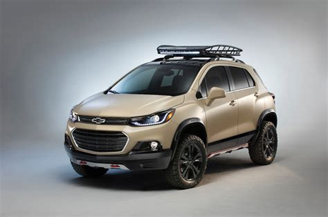 the chevrolet trax activ and its custom wheels went to sema