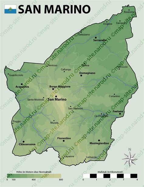 map of san marino map of san marino
