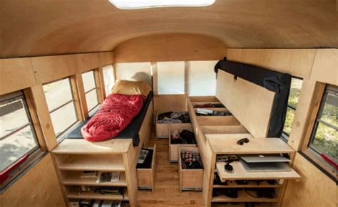 cool smart home ideas bus converted to bright airy storage filled tiny house