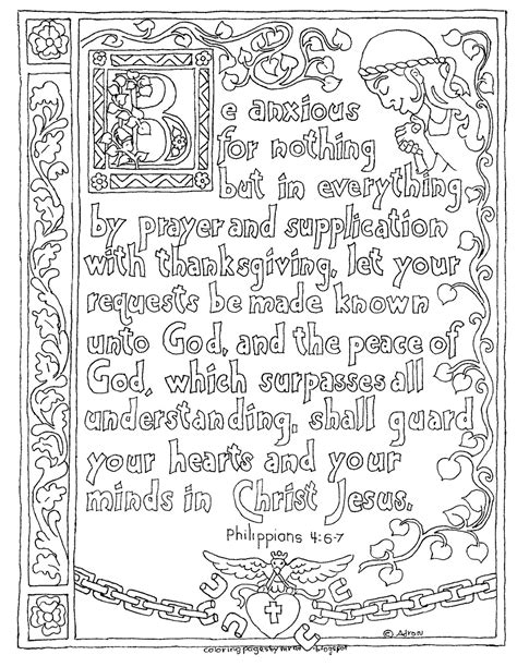 adult colouring page bible verse philippians 4 instant coloring pages for kids by mr adron printable