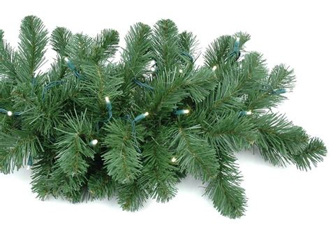 9 delux lighted colorado pine garland novelty lights inc