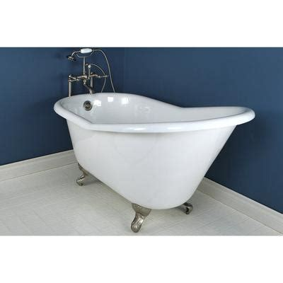 Small Cast Iron Bathtub by 60 Quot Small Cast Iron White Slipper Clawfoot Tub With Satin