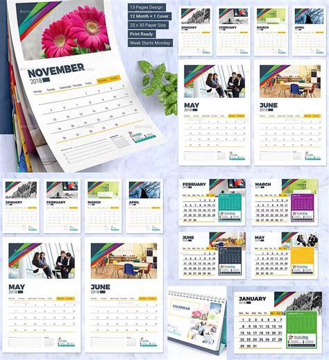 calendar design template wall  desk
