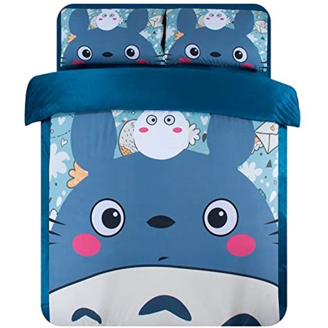 totoro bed sheets best anime bedding sets for teens
