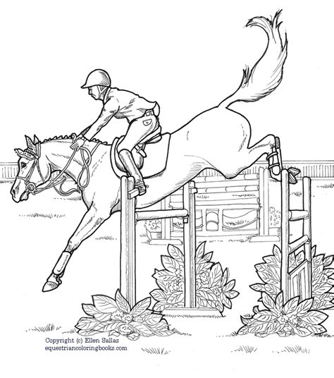 coloring pages of horses jumping show jumping coloring pages diannedonnelly