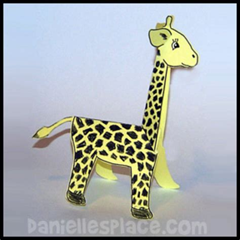 printable folding zoo animals african animal crafts for kids