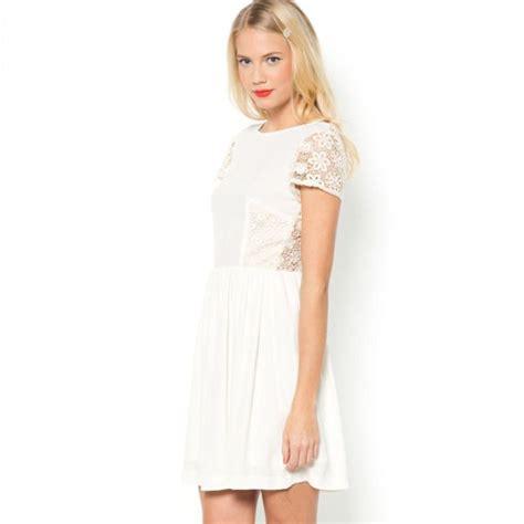 Robe Dentelle Femme La Redoute - robe blanche en guipure mademoiselle r taaora