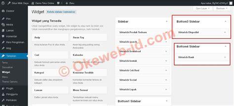 tutorial website indonesia tutorial mengatur sidebar oke web indonesia