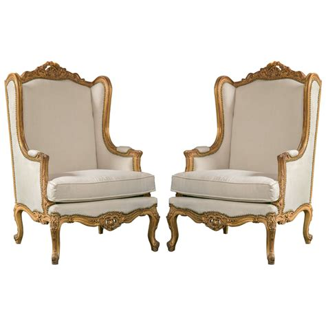 Ebay Armchair by Pair Of Louis Xv Style Wingback Bergere Chairs At