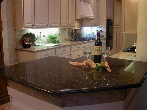 Brown Kitchen Cabinets With Granite Countertops by Brown Granite Countertops Pictures Cost Pros And Cons