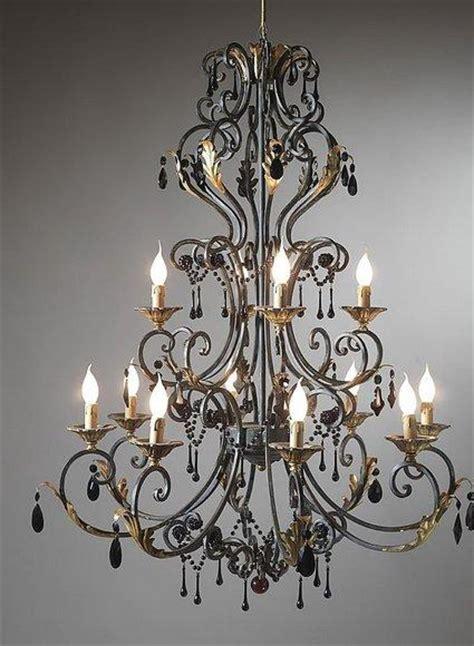candelabros de techo de herreria hierro forjado en el hogar deco vanguardia