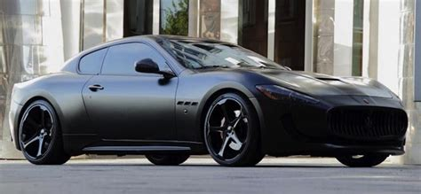 maserati blacked out nice blacked out maserati granturismo that showed up at a