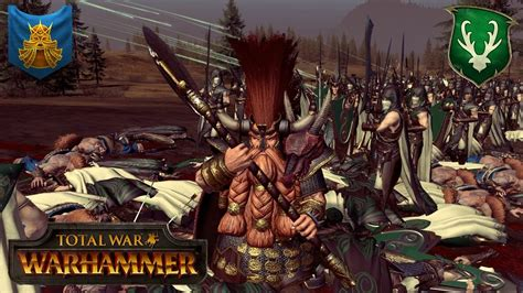 Slayer War 2 ungrim ironfist and the slayer army dwarfs vs wood