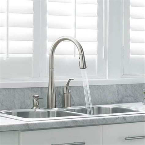 kohler simplice pull out spray head in stainless steel kohler simplice pullout spray kitchen faucet wow blog