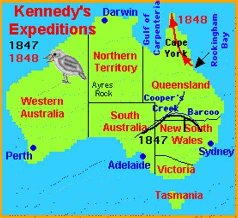 explore australia map explorers of australia enchantedlearning