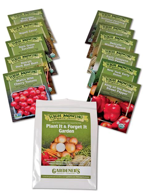 plant it and forget it vegetable garden organic seeds