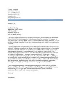 Cover Letter Example Of Teacher Interesting Elementary Teacher Cover Letter No Experience
